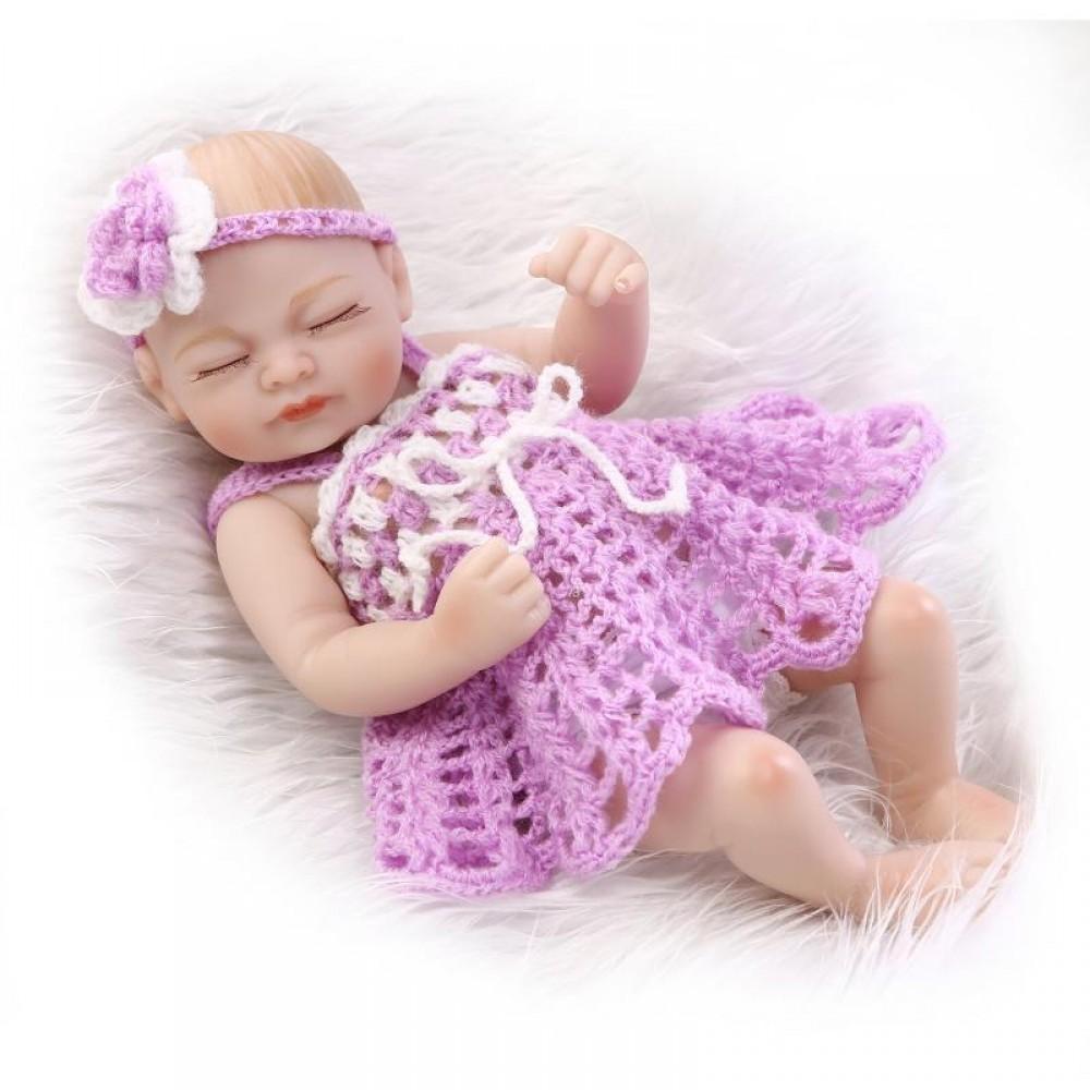 Real Live Sleeping Reborn Preemie Girl Baby Silicone Vinyl Full Body Dolls Bath